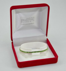 STRETCH BRACELET SWAROVSKI ELEMENTS - peridot