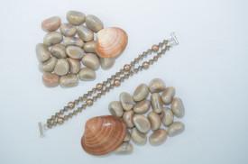 Bratara 2 randuri cu cristale si perle  SWAROVSKI ELEMENTS