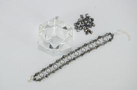 Bratara 3 randuri cu cristale si perle  SWAROVSKI ELEMENTS