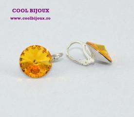 Cercei cu cristale SWAROVSKI ELEMENTS - Sun Flower