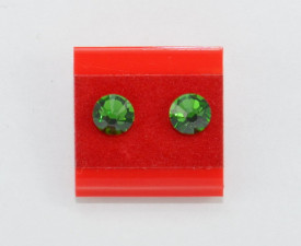 Cercei surub cu cristale SWAROVSKI ELEMENTS - fern green