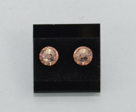 Cercei surub cu cristale SWAROVSKI ELEMENTS - light peach