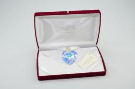 Heart Pendant, Crystal Aurore Boreale, 40 mm