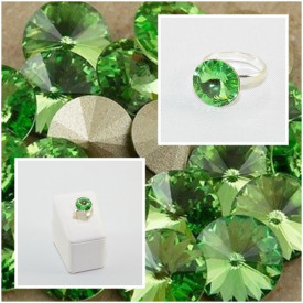 Inel cu cristal SWAROVSKI ELEMENTS -  Peridot