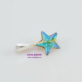 Pandantiv argint cu cristal SWAROVSKI ELEMENTS - Crystal Aurore Boreale