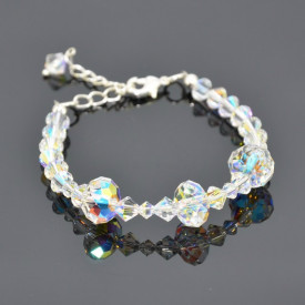 Bratara cu cristale SWAROVSKI ELEMENTS - Crystal Aurore Boreale