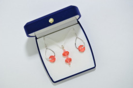 Briolette & Biconic Beds, Padparadscha, 12 mm
