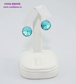 Cercei cu cristale SWAROVSKI ELEMENTS - Light Turquoise