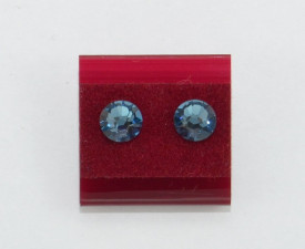 Cercei surub cu cristale SWAROVSKI ELEMENTS - denim blue