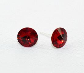 Cercei surub cu cristale SWAROVSKI ELEMENTS - Siam