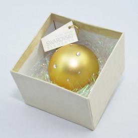 Glob cu cristale SWAROVSKI ELEMENTS - auriu - 58 mm