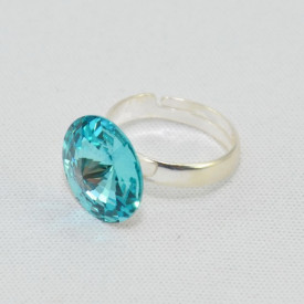 Inel cu cristal SWAROVSKI ELEMENTS -  Light Turquoise