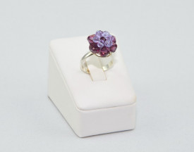 Inel cu cristale SWAROVSKI ELEMENTS - amethyst