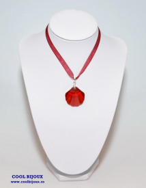 Shell Pendant, Red Magma, 28 mm