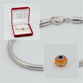 SWAROVSKI charm & bracelet - astral pink