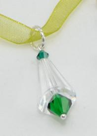 Artemis & Biconic Bead, Crystal & Emerald, 14/23 mm