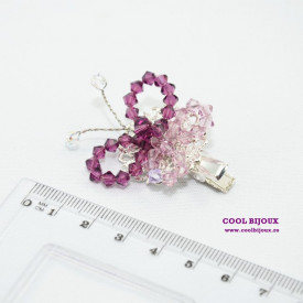 Brosa SMALL BUTTERFLY AMETHYST