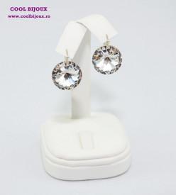 Cercei cu cristale SWAROVSKI ELEMENTS - Crystal