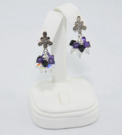 Cercei cu cristale SWAROVSKI ELEMENTS - Purple Velvet