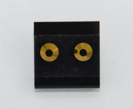 Cercei surub cu cristale SWAROVSKI ELEMENTS - crystal dorado