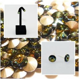 Cercei surub cu cristale SWAROVSKI ELEMENTS - Tabac