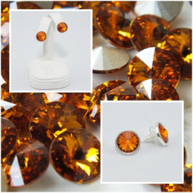 Cercei surub cu cristale SWAROVSKI ELEMENTS - Topaz