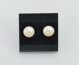 Cercei surub cu cristale SWAROVSKI ELEMENTS - white pearl