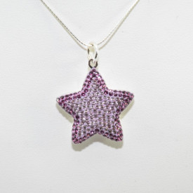 Pave Star Pendant - Light Amethyst/Amethyst
