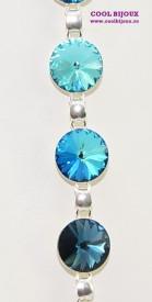 Bratara cu cristale SWAROVSKI ELEMENTS - Mix Bermuda Blue
