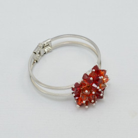 Bratara fixa cu cristale  SWAROVSKI ELEMENTS - Mix Red Magma