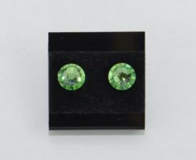 Cercei surub cu cristale SWAROVSKI ELEMENTS - peridot
