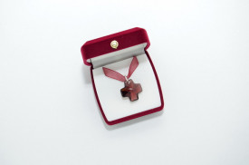 Cross Pendant - Burgundy
