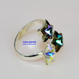 Inel cu 3 cristale SWAROVSKI ELEMENTS - Mix Star