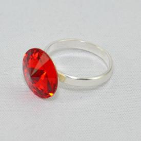 Inel cu cristal SWAROVSKI ELEMENTS -  Light Siam