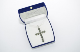 Rivoli Cross Pendant - Fancy Multi Setting -  Black Diamond