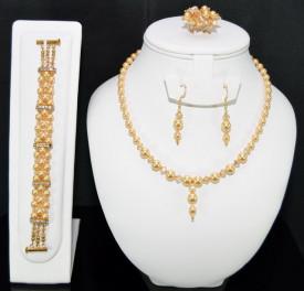 Set bijuterii cu cristale si perle SWAROVSKI ELEMENTS - gold