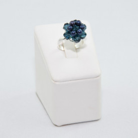 Set bijuterii cu cristale si perle SWAROVSKI ELEMENTS - night blue