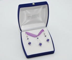 Artemis & Biconic Bead, Crystal & Purple Velvet, 14/23 mm