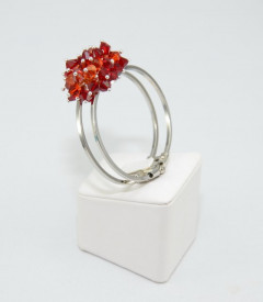 Bratara fixa cu cristale  SWAROVSKI ELEMENTS - Mix Red Magma