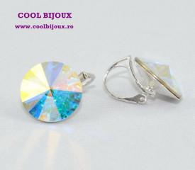 Cercei cu cristale SWAROVSKI ELEMENTS - Crystal Aurore Boreale