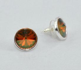 Cercei surub cu cristale  SWAROVSKI ELEMENTS - Copper