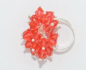 Set bijuterii cu cristale SWAROVSKI ELEMENTS - Padparadcha