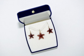 Starfish Pendant - Burgundy, 16/20 mm