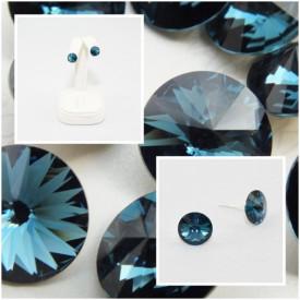 Cercei surub cu cristale SWAROVSKI ELEMENTS - Montana