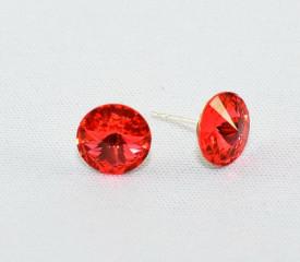 Cercei surub cu cristale SWAROVSKI ELEMENTS - Padparadscha