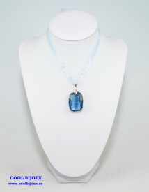Graphic Pendant, Denim Blue, 28 mm