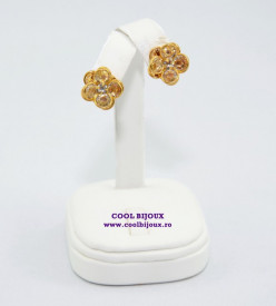 Set FLOWER cu cristale SWAROVSKI ELEMENTS - gold
