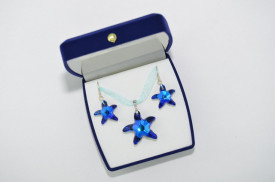 Starfish Pendant - Bermuda Blue 20/28 mm