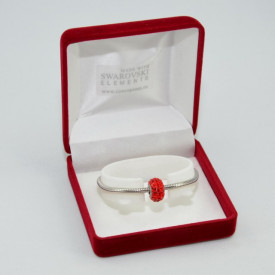 SWAROVSKI charm & bracelet - light siam