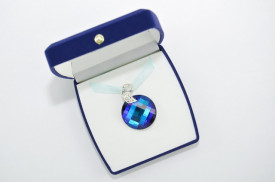 Twist Pendant, Bermuda Blue, 28 mm